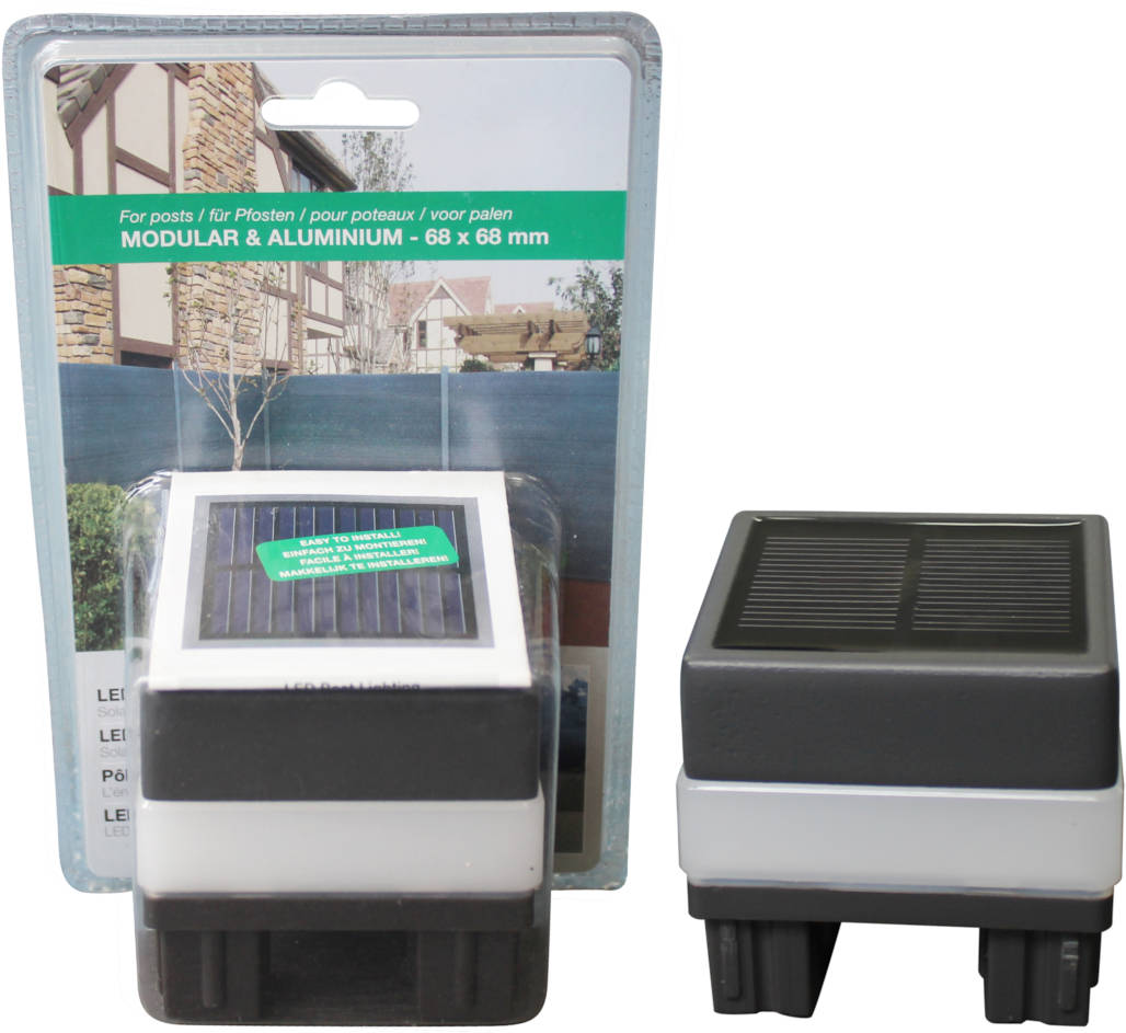 LED Solar-Lampe für Alu-Pfosten
