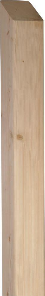 Holzpfosten | 35° spitz gesägt | Sibirische Lärche